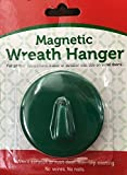 Magnetic Wreath Holder for Steel Doors - Green - No Nails No Wires! Holds up to 6 pounds