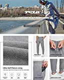 TSLA Men's Winter Fleece Jogger Pants, Athletic