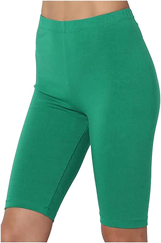 melupa Womens High Waist Yoga Short Workout Tummy Control Bike Shorts Running Exercise Compression Shorts Leggings