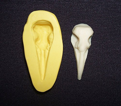 Silicone Push Mold RAVEN BIRD SKULL Cabochon Flexible Mould SAFE FOR FOOD Crafts Clay Soap Resin