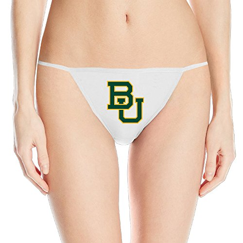 Price comparison product image DCM500 Fashion Women's Baylor University V-string Panty - SizeSmall White