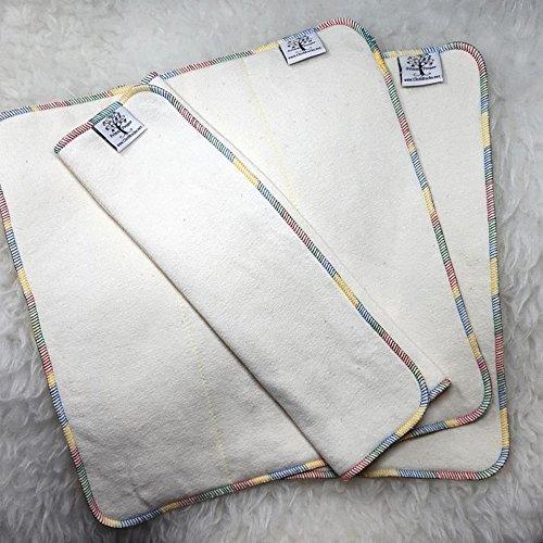 3 Pack - Hemp or Hemp Bamboo - Trifold Insert/Prefold by Primm n Proper Baby Cloth Diapers
