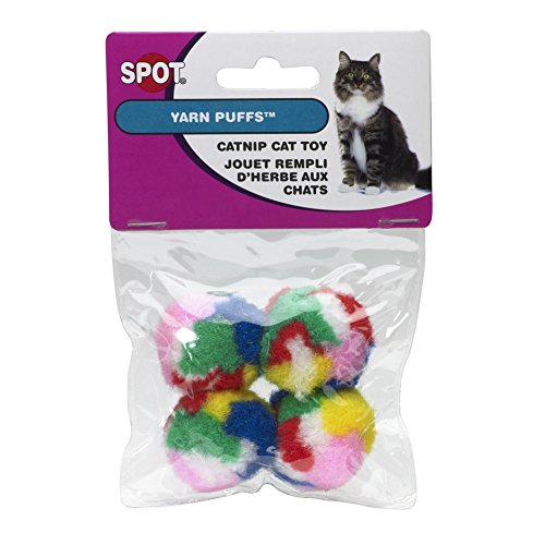 Ethical Kitty Yarn Puffs Cat Toys, 8 Small Balls