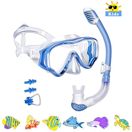 Powsure Kids Snorkel Set Dry Top Seaview