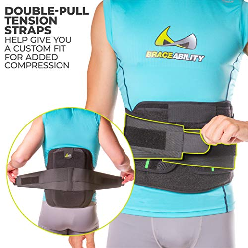 BraceAbility LSO Back Brace for Herniated, Degenerative & Bulging Disc Pain Relief, Sciatica, Spine Stenosis | Medical Lumbar Support Device for Post Surgery & Fractures with Hot/Cold Therapy (S) by BraceAbility (Image #6)