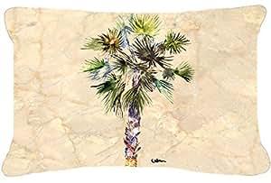 Caroline's Treasures 8481PW1216 Palm Tree Canvas Fabric Decorative Pillow, Large, Multicolor