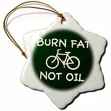 orn_15997_1 Mark Andrews ZeGear Activist - Burn Fat Not Oil - Ornaments - 3 inch Snowflake Porcelain Ornament