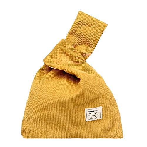 Simple Knot Handbag Women Casual Small Bag Japanese Style Yellow