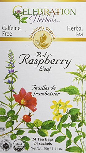 CELEBRATION HERBALS Red Raspberry Leaf Tea Organic 24 Bag, 0.02 (Red Raspberry Leaf Tea)