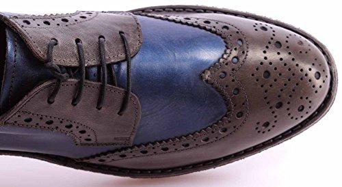 Scarpe Classiche Uomo MOMA 54505-V1 Hannover Grigio Derby Brogue Vintage Italy