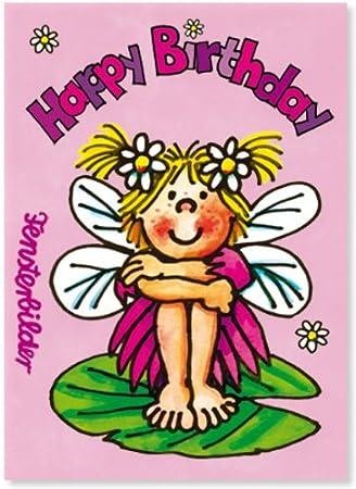 Fensterbild Happy Birthday Elfe Als Einladungskarte Von Lutz