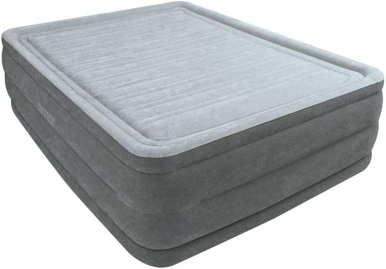 Intex 64418 - Colchón hinchable Dura-Beam Plus ComfortPlush 152 x 203 x 56 cm