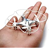 GPTOYS F8 RC Nano Quadcopter Mini Drone Toy 2.4G 4CH 6-Axis Gyro with 3D 360 Degree Rotating for Children Kids Beginners - Silver with Protective Cover