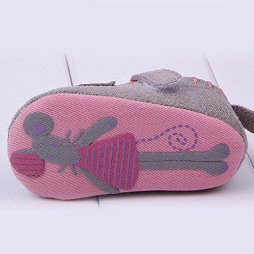Xiangze Nino bebe poco raton cuna algodon Casual zapatos <br>          Gris