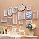 WUXK European style solid wood photo wall in the living room bedroom marriage room decorated in a creative combination of photo frame children's rooms are cozy and photo wall, blue box.