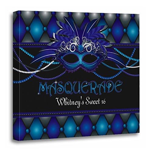 TORASS Canvas Wall Art Print 30Th Masquerade Party Birthday Ideas 40Th Supplies Artwork for Home Decor 20