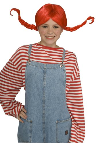 Forum Novelties Inc. Girls Red Pig Tail Wig with Braids,Standard - One Size]()