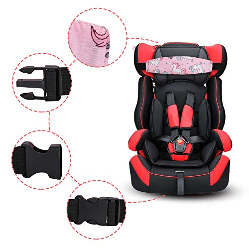 Grey Accmor Baby Carseat Head Support Band Strap 2 Pack for Carseats Stroller Headrest Sleeping Neck Relief Head Strap for Toddler Child Kids Infant