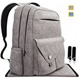 Diaper Bag Backpack Large Capacity, Multi-Function Waterproof Organizer for Baby Travel. W/ Changing Pad, Stroller straps, Insulated Pockets, Stylish and Durable, Unisex - Gray