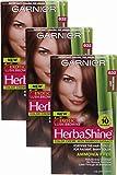 Garnier HerbaShine Hair Color, 632 Light Warm Brown (Pack of 3)
