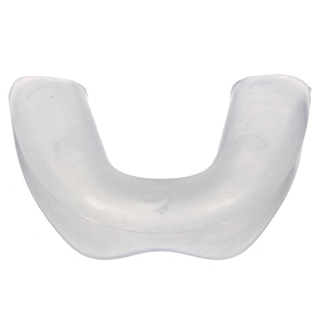 Los apoyos de los dientes - SODIAL(R) Bucal Encia de Dientes de Plastico Suave Sola Capa de Boca Boxeo para Protector los Dientes, Transparente