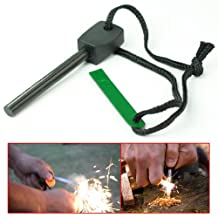 Outdoor Handle Ferrocerium Flint Stone Rod Fire Starter Lighter Emergency Survival Tool kit