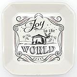Joy to the World 6'' X 6'' Ceramic Tidbit Tray - Nativity