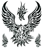 "Tribal Eagle Large Temporary Body Art Tattoos 8"" x 7.5"""