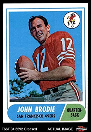 deb9d3c440a 1968 Topps   139 John Brodie San Francisco 49ers (Football Card) Dean s  Cards 3