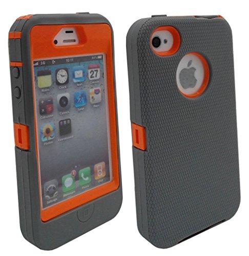 Shockproof Armor Case iPhone 4/4s (Orange) - 8
