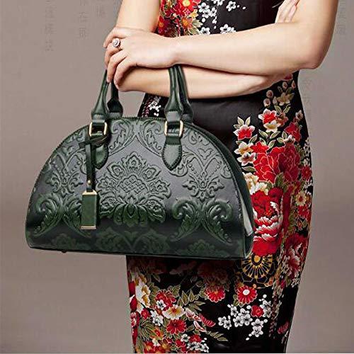 De Style Chinois Diagonale Sac à En Paquet Relief Sac Bandoulière Femme Main Sac Green à Boulettes qzwSwOa