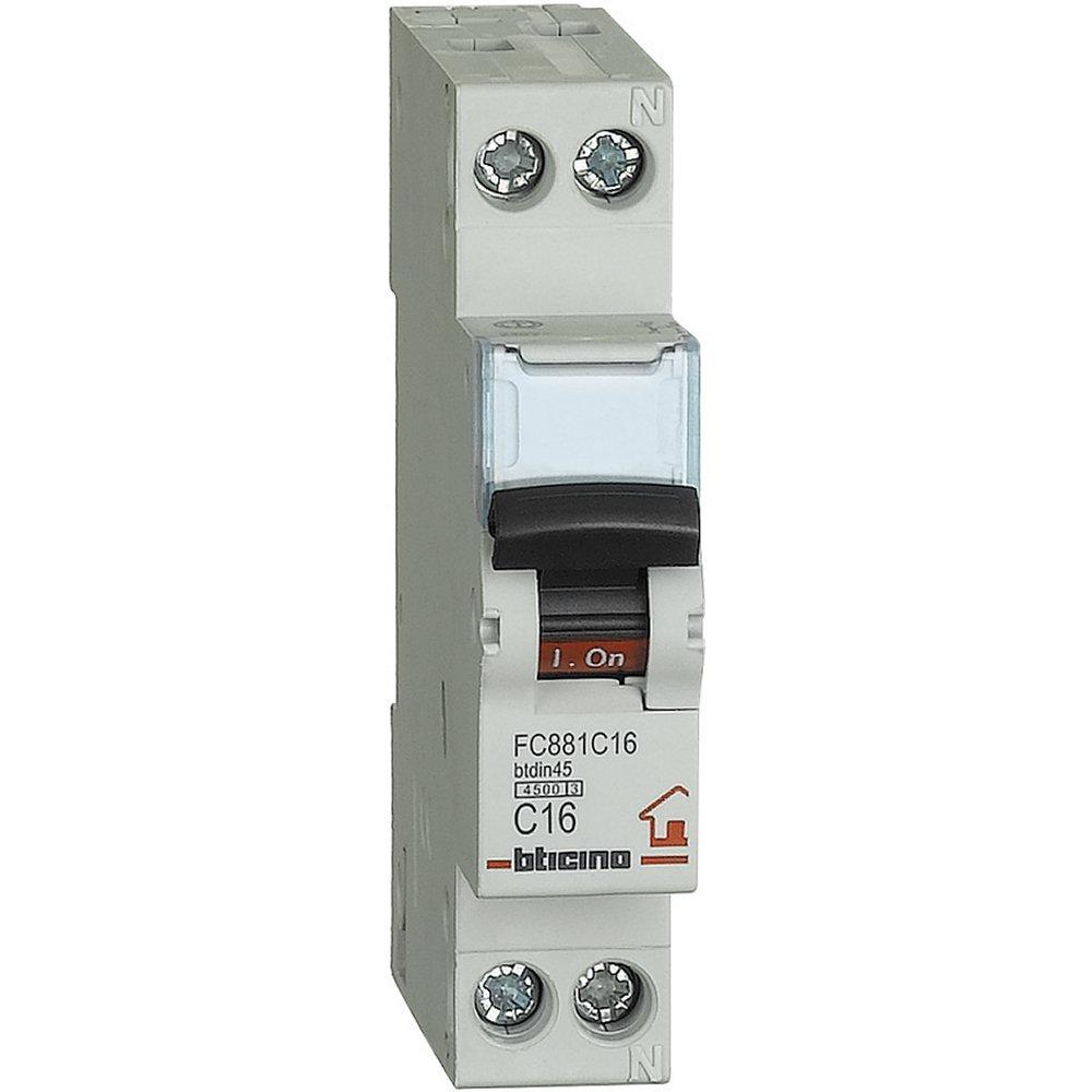 bticino Fc881C10Btdin automatique fusibles ABB Disjoncteur 1P N courbe C, 10A