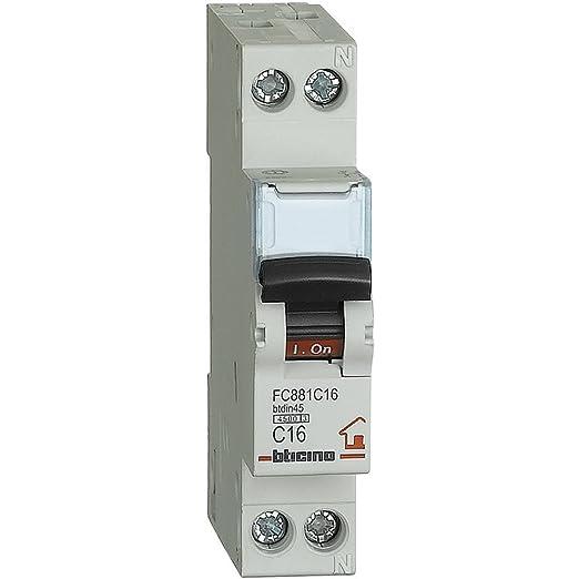 9 opinioni per BTicino Fc881C16 Btdin, Interruttore Magnetotermico 1P+N Curva C, In= 16 A