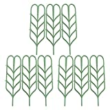 pinnacleT1 DIY Garden Trellis for Climbing Plants,14''x4'' Potted Vines Vegetables Flowers Patio Metal Wire Lattices Grid Panels for Ivy Roses Cucumbers Clematis Pots Supports
