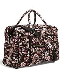 Iconic Weekender Travel Bag, Signature Cotton, Desert Floral (Black/Vines Floral Neutral)