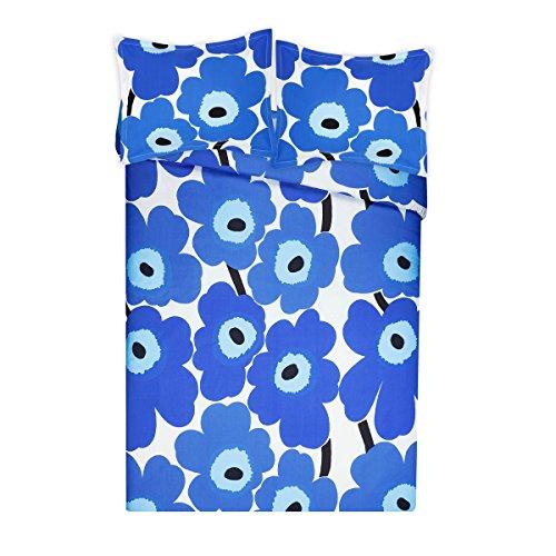 Price comparison product image Marimekko 221461 Unikko Duvet Cover Set, Blue, Full/Queen