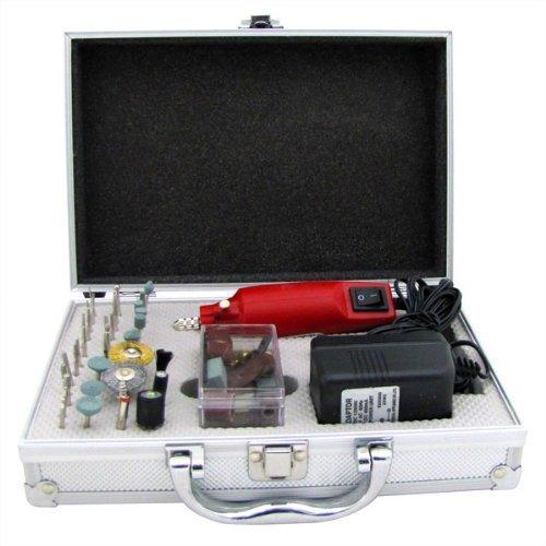 Hand Held Rotary Tool Mini Grinder Mini Polish Tool (Complete 61 Piece Hand Grinder (Mini Angle Grinder Kit)