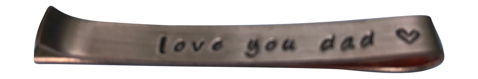 Hand Trades Love You dad Tie Clip - Copper - Wedding Gift-Groomsman Gift- Father of The Bride-Gifts for dad