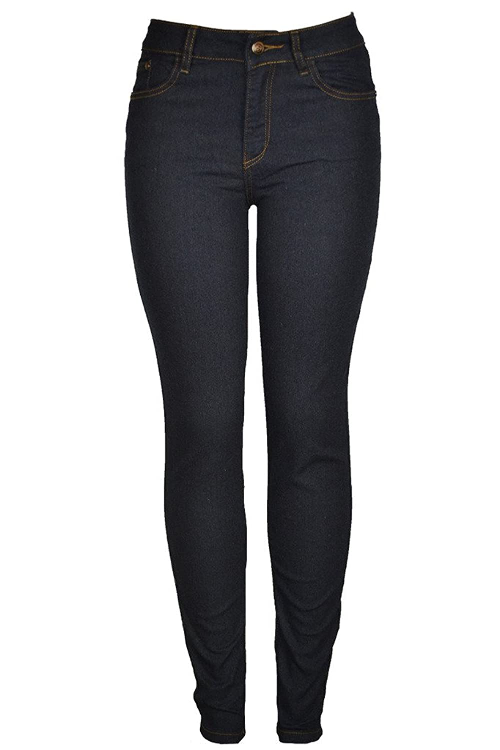 143Fashion Junior's Stretchy Five Pocket Mid-Rise Skinny Jeans