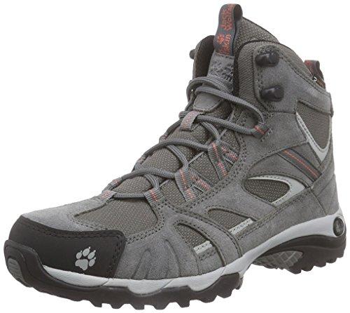 Grigio Donna Wasserdicht alta trekking scarpe Jack donna pompelmo Texapore da Hike Wolfskin Vojo Mid 7fqTgaH