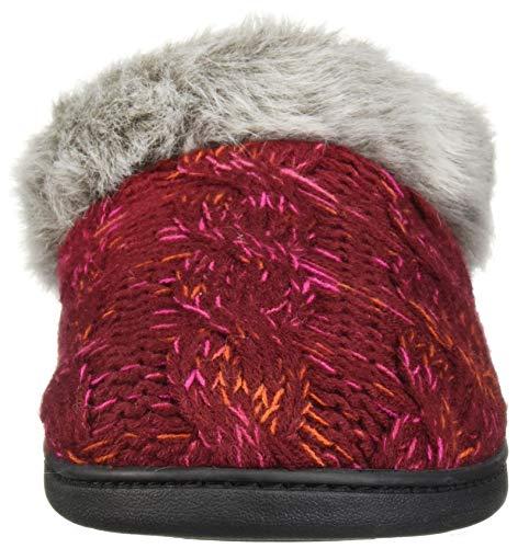 Slipper Cabernet Space Dearfoams Dye Width Wide Clog Women's Knit Cable Tqz84B