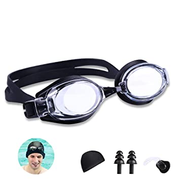 KATELUO Schwimmbrillen,Profischwimmbrille mit UV-Schutz und Antibeschlag-Schutz Bequem Schwimmbrillen f/ür M/änner Frauen Jugendliche