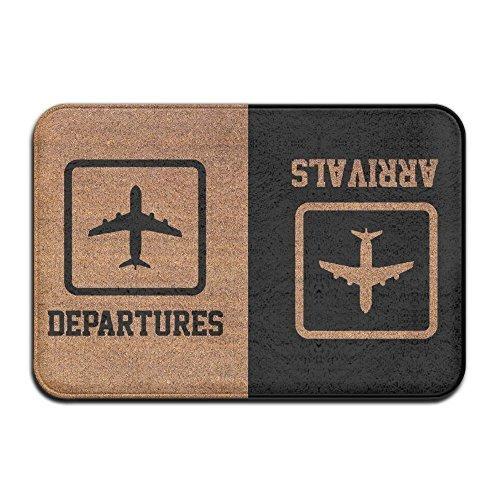 Arrivals Departures Cool 15.7 X 23.6 in Absorbent Non Slip Floor Rug Shoe Rug Funny Doormat Funny Door Mat Funny Doormats Quote Doormat Unique Doormat Funny Mat WENEOO LA
