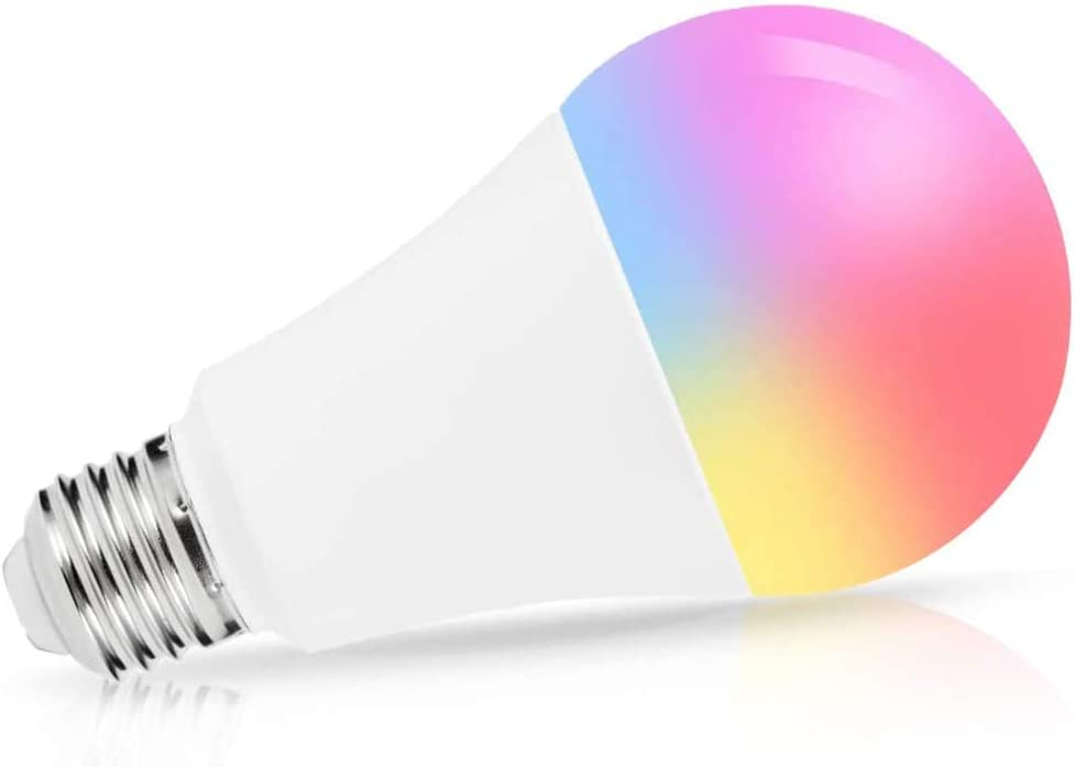 A21 LED Color Changing Bulbs, LOHAS Smart Light Bulb, 14W 100W Equivalent 1380LM Cool White 6000K RGB Light Bulb That Works with SIRI, Alexa, Google Assistant, No Hub Require