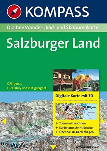 Salzburger Land 3D: Digitale Wander-, Rad- und Skitourenkarte. GPS-genau. (KOMPASS Digitale Karten, Band 4293)