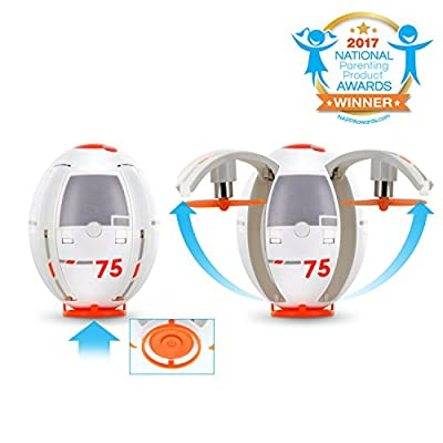 Tenergy TDR Eggsplorer RC Quadcopter Drone Transformable Flying Egg Rolling Stunt 2.4G Auto Hover by Tenergy