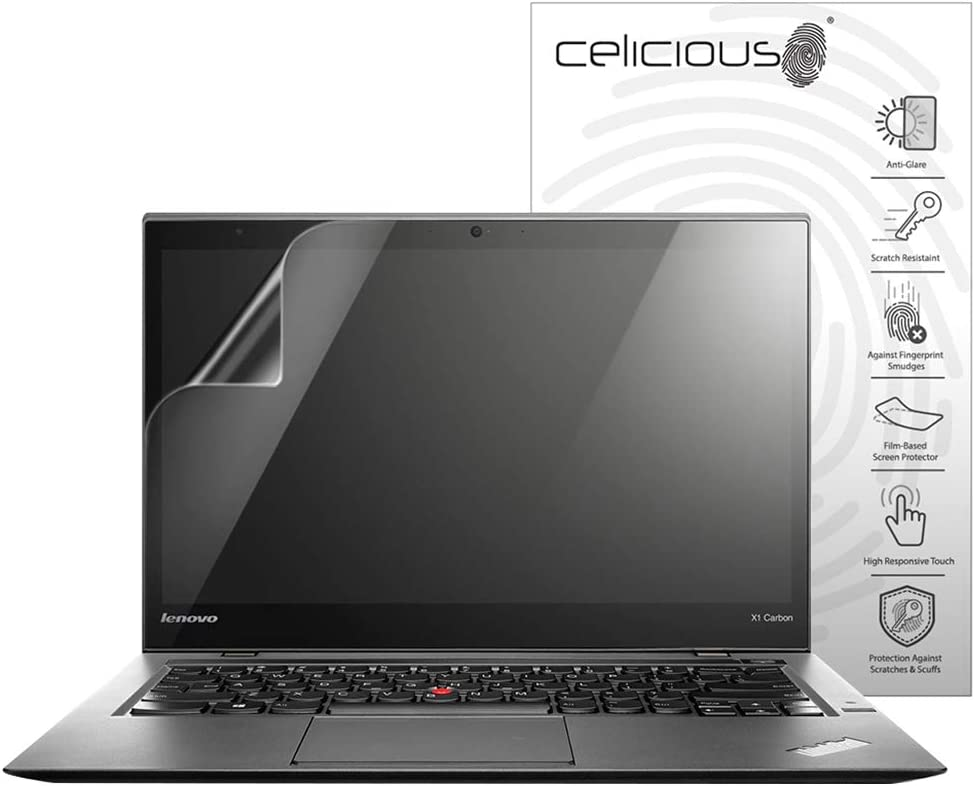 Celicious Matte Anti-Glare Screen Protector Film Compatible with Lenovo ThinkPad X1 Carbon 2nd Gen (Touch) [Pack of 2]