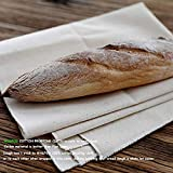 WALFOS Professional Bakers Dough Couche - 100% Pure Cotton Pastry Proofing Cloth for Baking French Bread Baguettes Loafs - Sturdy & Thick Fabric - Perfect Size