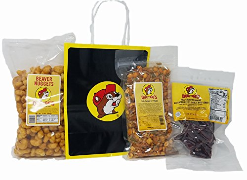 Beef Nuggets (Buc-ees Roadtrip Favorites Bundle: Beaver Nuggets, Southwest Trail Mix and Bohemian Garlic Beef Jerky with Bag and Beaver Tissue Paper)