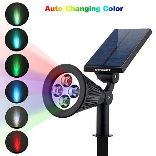 Led Outdoor Light Too Bright: URPOWER Solar Lights 2-in-1 Solar Powered 4 LED Adjustable